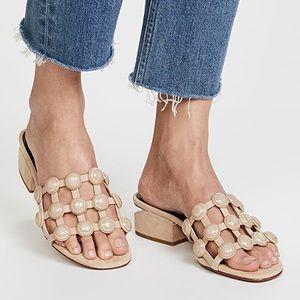 Alexander Wang Lou Caged Slides Studded Sandals